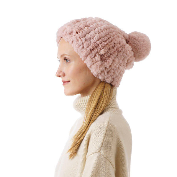 Verbier Pink Knitted Hat