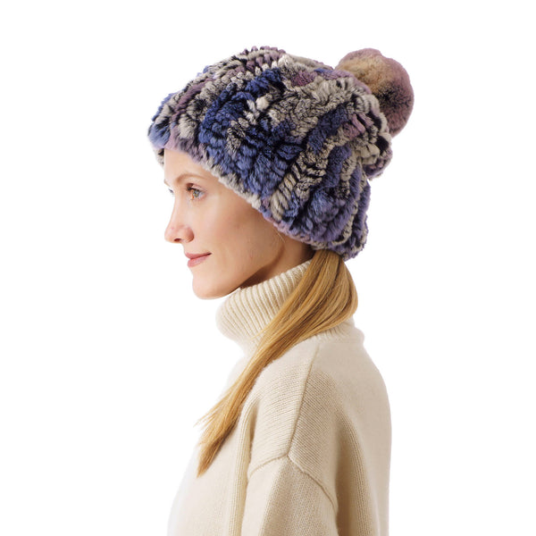 Verbier Mixed lavender and grey Knitted Hat