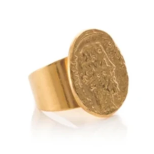 VERENA Adjustable Vintage Medal Ring
