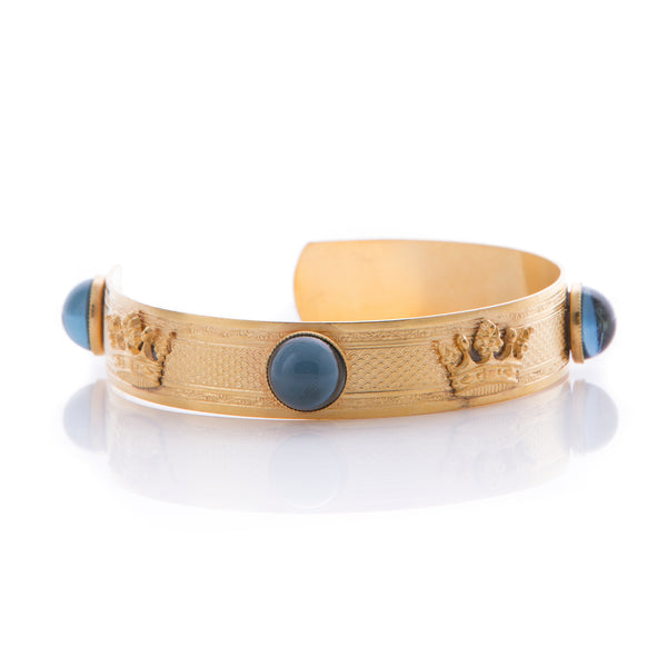 GAIA Bracelet Gold-Plated Night Blue