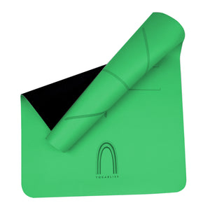 YOGABLISS Yoga Mat Green and Black underneath