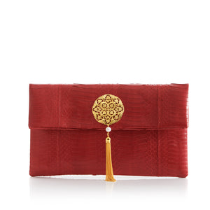 Clutch Bag VAVAVOOM Red Cobra