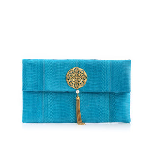 Clutch Bag VAVAVOOM Turquoise Cobra
