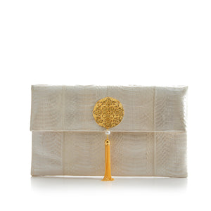 Clutch Bag VAVAVOOM White Pearl Cobra