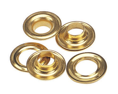 "BOX 2031 BRASS GROMMETS & WASHERS 3/8"" SIZE #2"