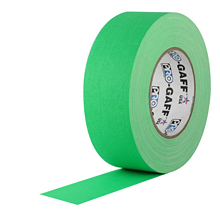 "ROLL 2""X50YD FLUORESCENT GREEN PRO GAFFER'S TAPE"
