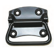 STEEL CHEST HANDLE BLACK