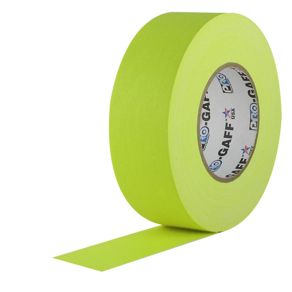 Fluorescent Yellow Pro Gaffer's Tape 2""
