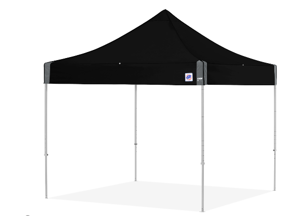 ECLIPSE II EZUP TENT 10X10 ALUMINUM FRAME W/BLACK TOP & COVER BAG
