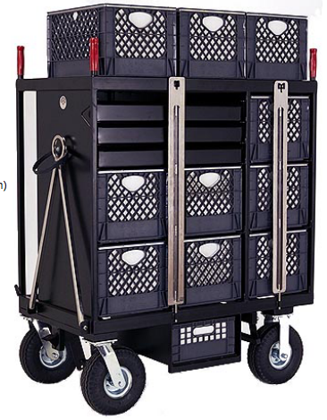 SB07 - 7-Crate Set Box Cart