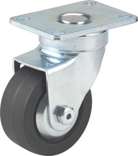 "4"" DARNELL NEOPRENE WHEEL RIGID CASTER"