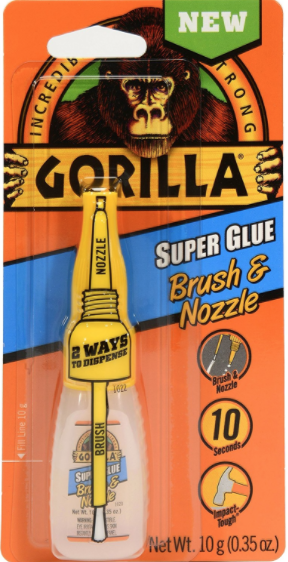 GORILLA SUPER GLUE BRUSH OR NOZZLE .35OZ