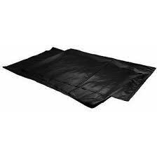 Case of 100 55 Gallon Black Trashliners (Folded) 3 Mil