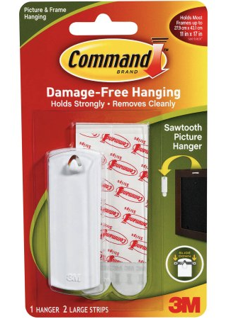 Command Hooks - Saw Tooth Hanger