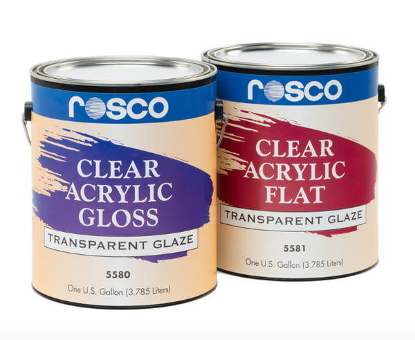 Rosco Clear Flat Acrylic Glaze - 5 Gallon