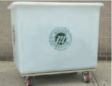"HAMPER INDUSTRIAL  PLASTIC 12 BUSHEL  W/4"" SWIVEL CASTERS NO TOP"