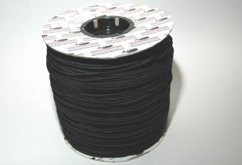"ROLL BLACK BRAIDED POLYESTER CORD 1/8"" X 2100FT"