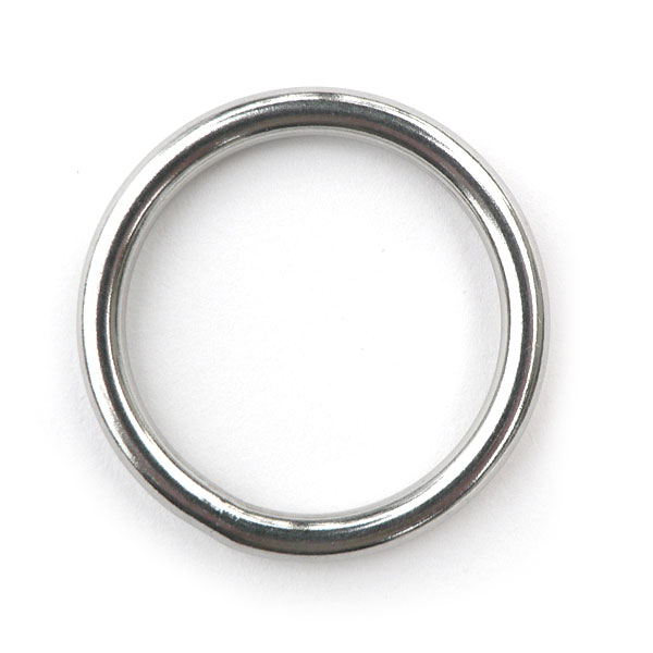 "WELDED STEEL RING 1/4 x 3/4"" ID"
