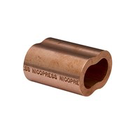 Copper Oval Sleeves 3/16""