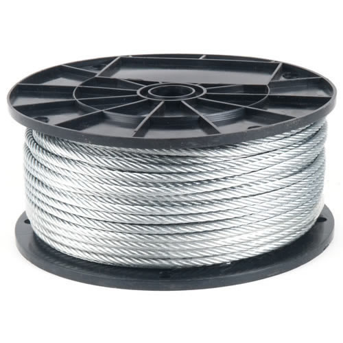 "Galvanized Air Craft Cable 7x9 1/8 ""x500'"