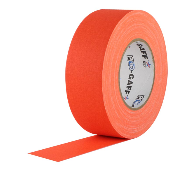 Fluorescent Orange Pro Gaffer Tape 2""