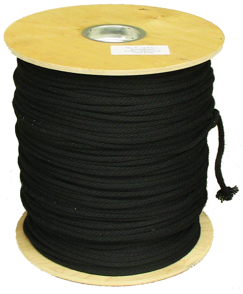 ROLL 1200FT #8 BLACK LASHLINE 1/4""