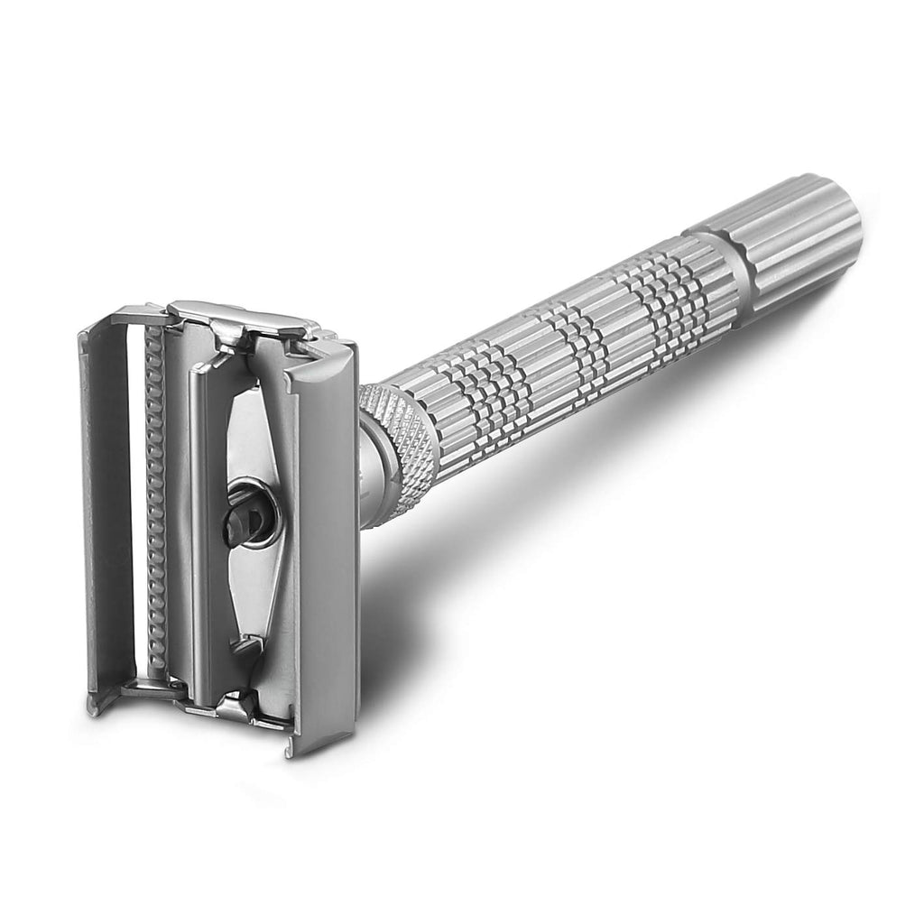 The Crusader Adjustable Safety Razor, Frosted Chrome
