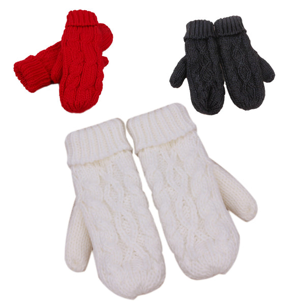 Thick Warm Wool Knitted Mittens