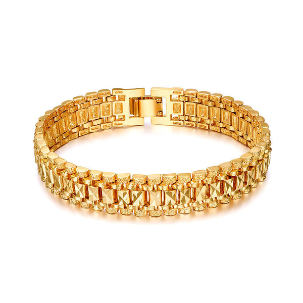 Trendy Gold Plated Chain Vintage Link Bracelet