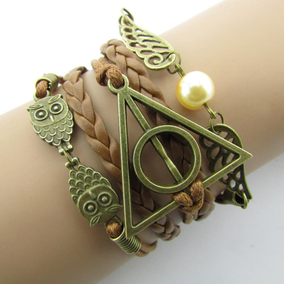 Hand-Woven Harry Potter Hallows Wings Bracelet