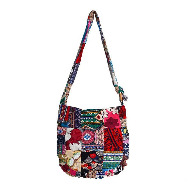 New Floral Patchwork Travel Shoulder/Crossbody Handbag
