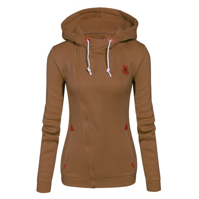 Hooded Zip up Fleece Sweaters Multiple Colors