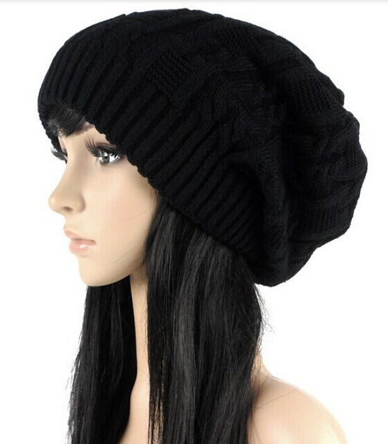 Stripe-Square Knitted beanies