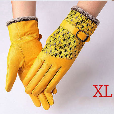 Women's Warm Genuine Leather Gloves
