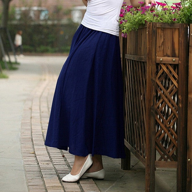 10 Solid Color New Long Skirts