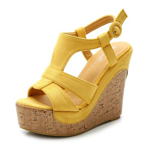 Candy Color Open Toe Sandals Ankle Strap