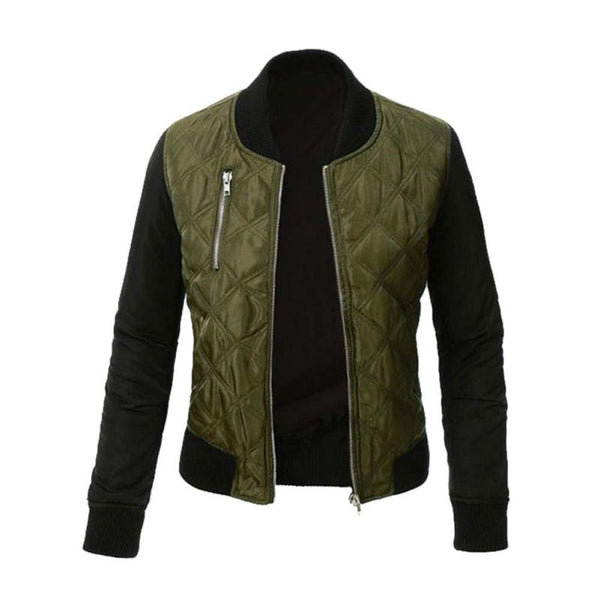 Woman's Bomber Jacket Military Design