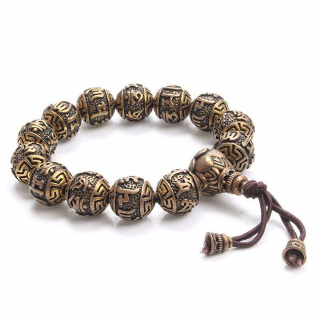 Traditional Tibetan Buddhism Brass Bracelet