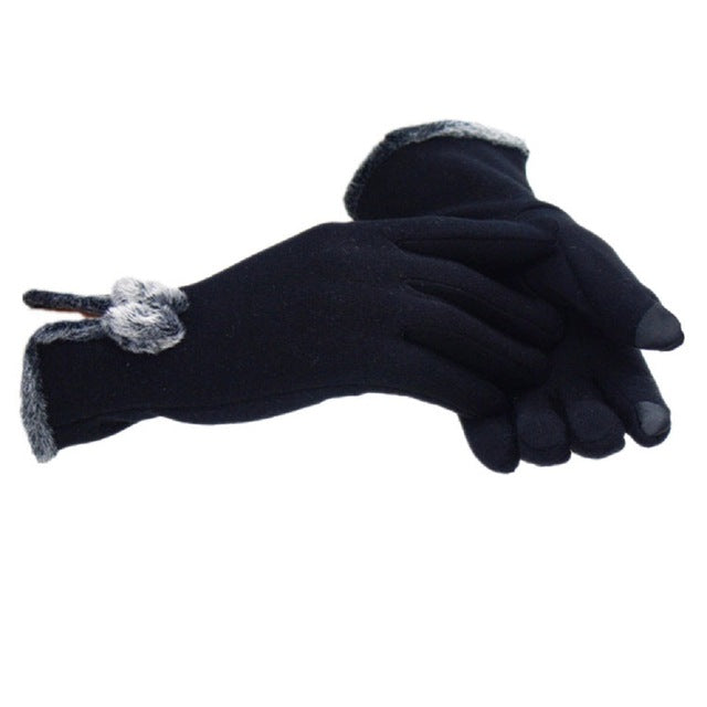 Wrist Length Cotton Bow Gloves