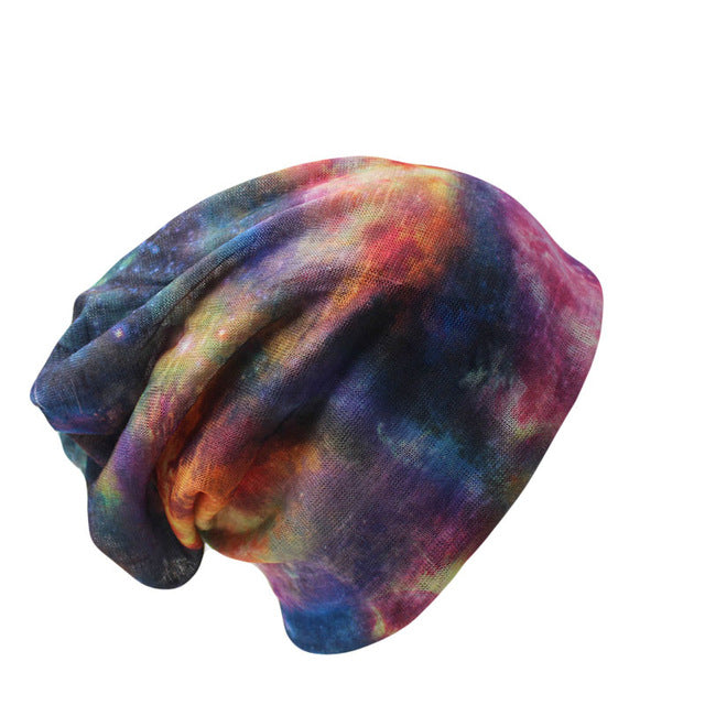 Multi-use Galaxy Tie Dye Beanies/ Scarves
