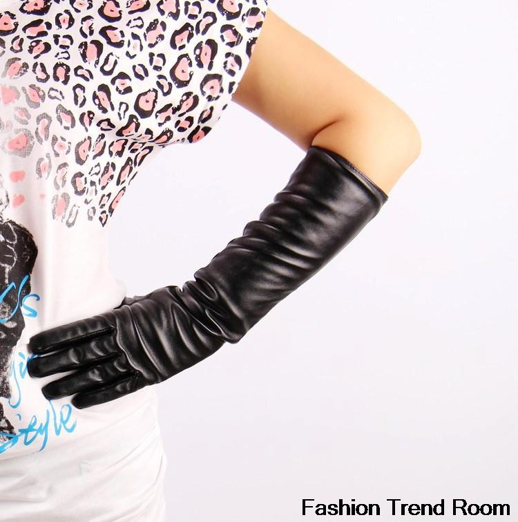 2 Colors Faux elbow elbow length gloves