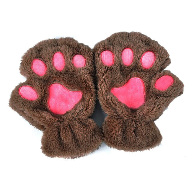 Finger Less Cat Paw Gloves