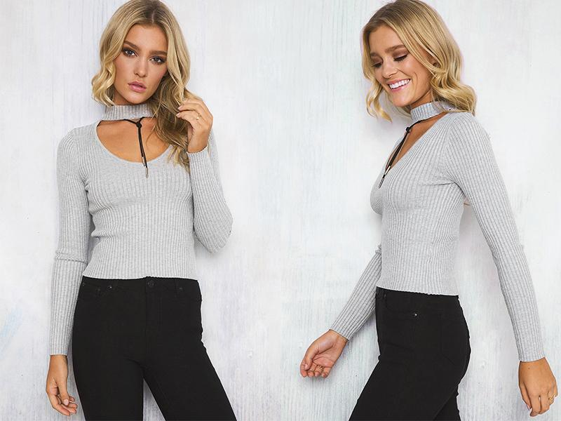 Cute Sweaters With Neck Wrap