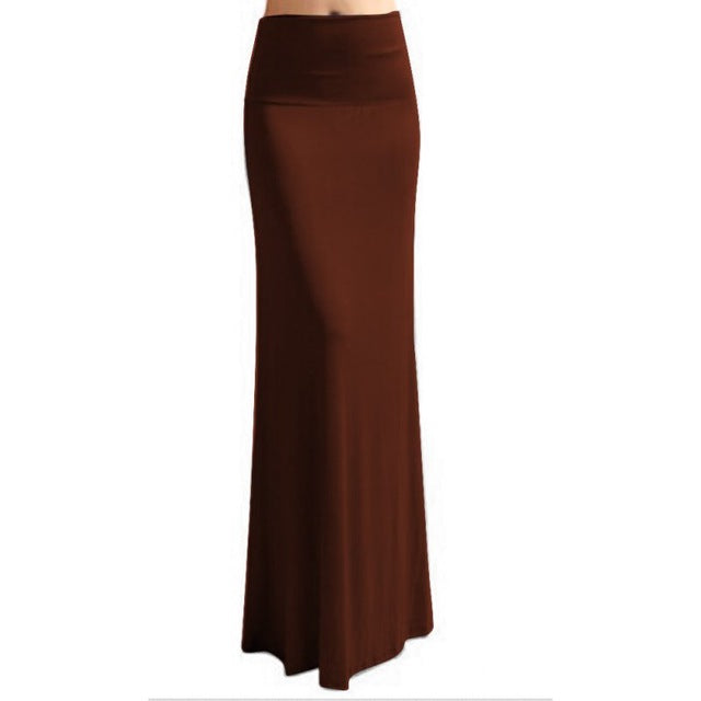 Bohemian Style Long Cotton Casual Pencil Skirt