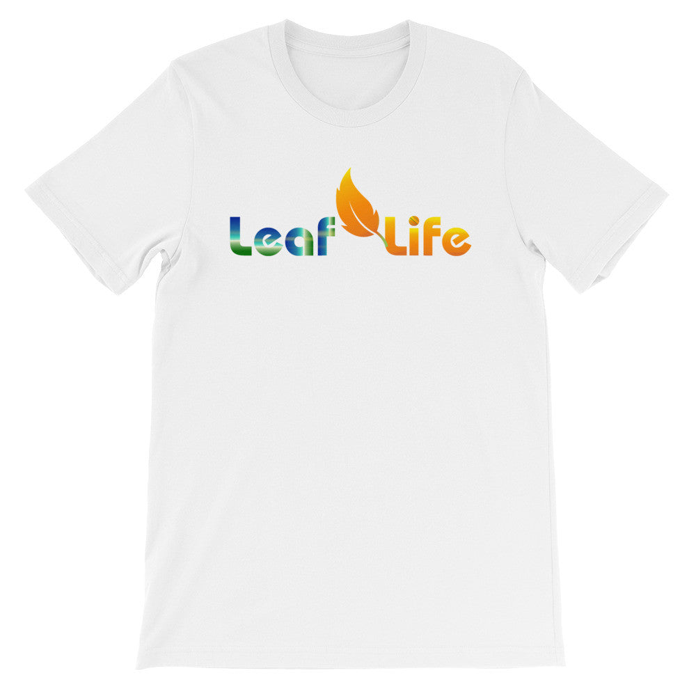 MULTI COLOR LEAF LIFE Unisex short sleeve t-shirt