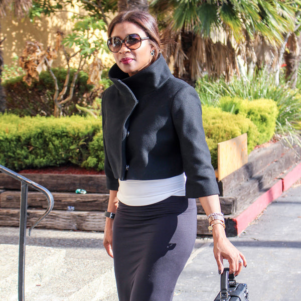 Rock the Look: Pencil Skirt + Black Jacket