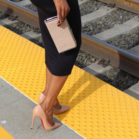 Nude Red Bottoms Train Tracks