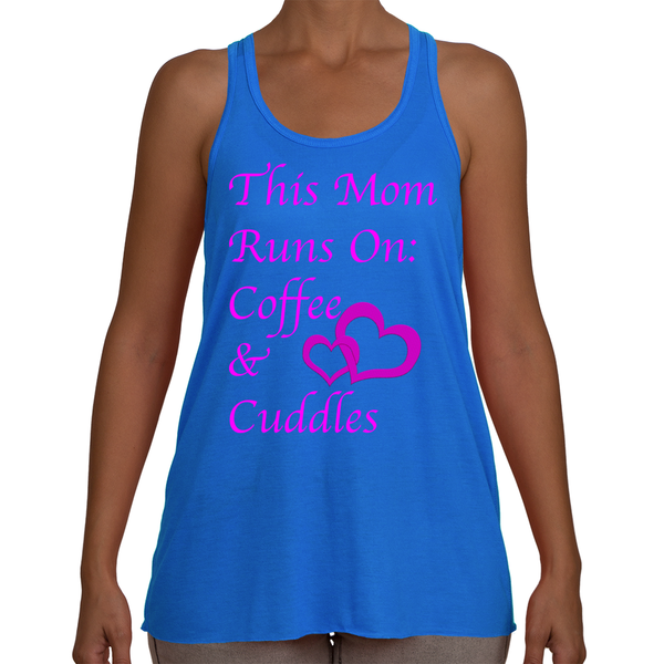 Women's Tank - Coffee and Cuddles in Pink