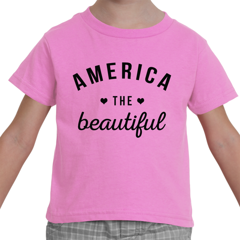 Toddler T-shirt - America the Beautiful