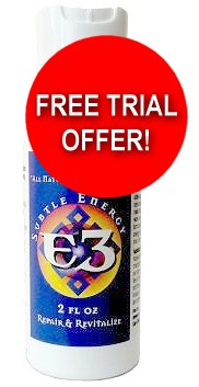 FREE 2 oz. Trial Bottle of E-3 Pain Relief Cream (1 ALLOWED PER ORDER)